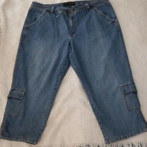 VENEZIA GENTLY LOVED DENIM CAPRRI PANT SIZE 20